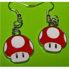 Super Mario super mushroom earrings,need them!