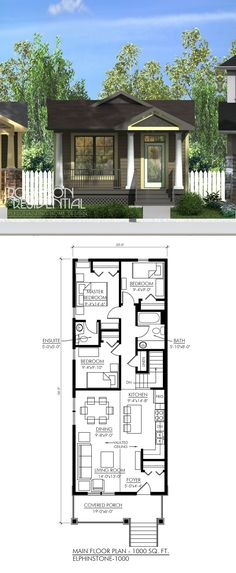 1000 sq ft 3 bedrooms 15 bath i like the front part - Pictures Of Small House