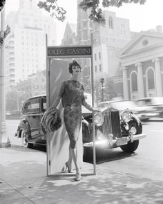 Oleg Cassini, Ann St. Marie, Park Avenue at 63rd Street, 1958. For Altman, Stoller. Foto dal libro Mid-Century Fashion and Advertising Photography by William Helburn