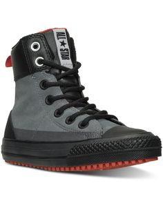 Converse Boys' Chuck Taylor Asphalt Boots from Finish Line - Gray 4 Kid Shoes, Me Too Shoes, Men's Shoes, Shoe Boots, Chuck Taylor Boots, Converse Chuck Taylor, Pullover Shirt, Fashion Shoes, Mens Fashion