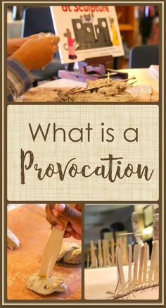 What is a provocation? l Fairy Dust Teaching