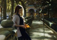 THE MEETING WITH AUTUMN, painting