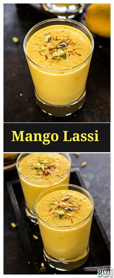 The popular Indian drink Mango Lassi is a delicious blend of mangoes and yogurt with a touch of cardamom! Find the recipe on www.cookwithmanali.com