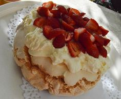 Strawberry pavlova and moussaka recipes are shared in the 2014 Mother's day lunch with a twist event. Strawberry Pavlova, Strawberry Recipes, Moussaka Recipe, Pavlova Recipe, South African Recipes, Cooking Recipes, Lunch, Homemade, Dishes
