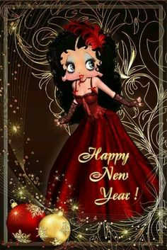Happy New Year 2019 : Happy new year New Year Pictures, New Year Wishes Images, New Year Images, Imagenes Betty Boop, Betty Boop Halloween, Happy New Year Gif, Black Betty Boop, Betty Boop Cartoon, Betty Boop Pictures