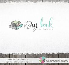 Premade Photography Logo   Book Story Photographer by autumnscreek, $40.00