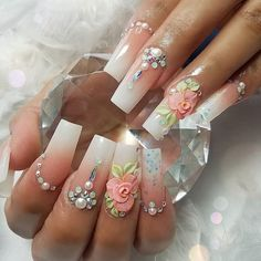 Are you tired of the monotonous design for your nails every time you come to the manicure shop? Try ombre nails and start your new days. 3d Nail Designs, Colorful Nail Designs, Beautiful Nail Designs, 3d Nail Art, Bling Nails, 3d Nails, Nail Nail, Perfect Nails, Gorgeous Nails