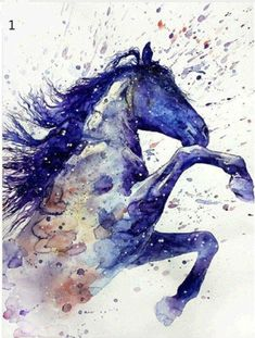 Watercolor art of a horse watercolor horse, watercolor animals, watercolour Watercolor Horse, Watercolor Animals, Watercolor Paintings, Tattoo Watercolor, Watercolor Images, Pastel Paintings, Watercolors, Watercolor Trees, Indian Paintings
