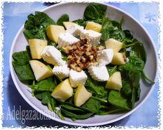 Adelgaza Con Susi: Ensalada de espinacas, manzana,queso y nueces ( 165kcal)