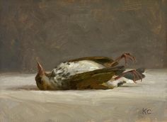 Intimate Still Life Portraits Of Dead Birds Painted In The Style Of Old Masters