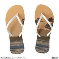 Hawaii Sunset flip flops