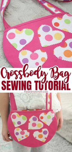 Need an awesome gift idea to impress a little girl in your life? Make this cute crossbody purse and she'll love you forever! This crossbody bag pattern makes a very simple and easy to make round bag, perfect for carrying toys, small coloring books, pens & crayons etc #easypeasycreativeideas #sewing #sewingbags #bags #sewingtutorials #sewingpattern #sewingforbeginners #sewingforkids #beginnersewing #easysewing Cute Crossbody Purses, Crossbody Bag, Diy Sewing Projects, Sewing Tutorials, Sewing Patterns Free, Free Sewing, Round Bag, Sewing For Beginners, Sewing For Kids