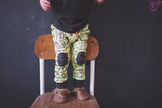 Organic Cotton Leggings in River Life Spring by AlpineBabyCo