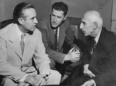 W. Averell Harriman, left, President Harry S. Truman's personal foreign policy adviser, conferring with Prime Minister Mohammed Mossadegh of Iran in 1951. An interpreter sits between them.