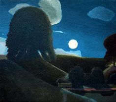 Moon and Alf at Avebury by David Inshaw. Named for fellow painter and friend Alfred Stockham. Nocturne, Seascape Paintings, Landscape Paintings, Landscapes, Moonlight Painting, Pierre Bonnard, Painting Gallery, Contemporary Landscape, Abstract Sculpture