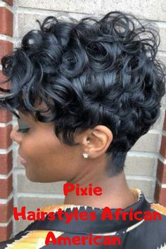 Curly Pixie Weave ❤️ If you are looking for the trendiest weave hairstyles, you should read this p. Short Sassy Hair, Short Hair Cuts, Black Hair Growth, Curly Hair Styles, Natural Hair Styles, Short Pixie Haircuts, Black Pixie Haircut, Short Curly Weave Hairstyles, Medium Haircuts