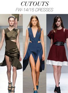Trend Council:  FW '14'15 Dresses - CUTOUTS