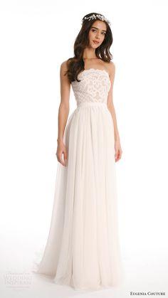 EUGENIA COUTURE JOY 2017 strapless lace top aline skirt wedding dress (candie) fv #bridal #wedding #weddingdress #weddinggown #bridalgown #dreamgown #dreamdress #engaged #inspiration #bridalinspiration #weddinginspiration #weddingdresses