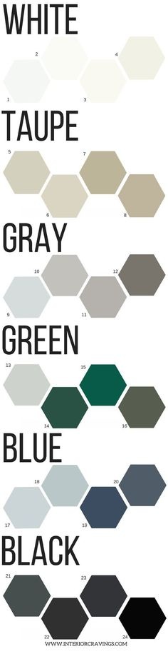 24 neutral paint colors - perfect tool to help you choose your next color palette for your home decor project