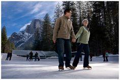 Love ice skating in Yosemite!
