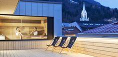 Stadthotel Brunner in the Schladming-Planai-Dachstein/Ski amadé ski region. The barrier-free design hotel with Yoga and Ayurveda offer in Schladming Design Hotel, Yoga Hotel, Mountain City, Walnut Furniture, Hotel Website, Das Hotel, Hotels, Spa, Boutique
