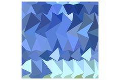 Brandeis Blue Abstract Low Polygon B by patrimonio on Creative Market