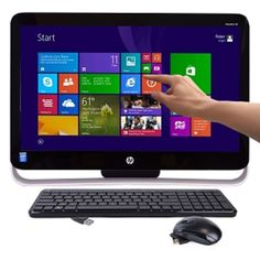 HP Pavilion 21-h013w TouchSmart 21.5 Pentium G3220T Dual-Core 2.6GHz All-in-One PC - 4GB 1TB DVD±RW/W8.1/Cam - B