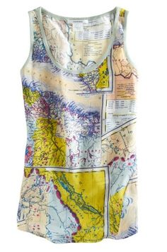 Carven Map Tank