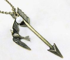 The Hunger Games Inspired Arrow with Mockingjay and by qizhouhuang, $3.50