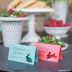 Papercut Food Tags for Your Easter Brunch