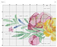 Cross Stitch Needles, Cross Stitch Rose, Cross Stitch Flowers, Cross Stitch Patterns, Creative Embroidery, Cross Stitching, Needlepoint, Needlework, Diy And Crafts