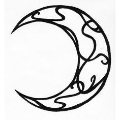 Tatouage lune décorée
