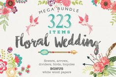 Wedding Floral Huge Collection 323 elements by BlackCatsMedia