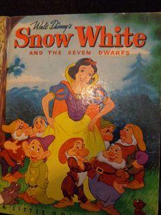 RARE 1948-A Walt Disney's Snow White & The Seven Dwarfs ~ Little Golden Book VG+