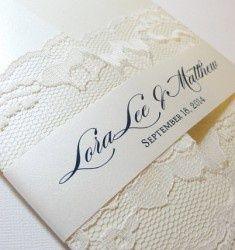 vintage, lace invites