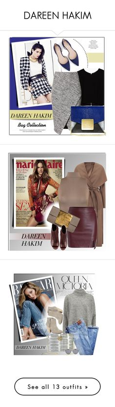 """DAREEN HAKIM"" by monmondefou ❤ liked on Polyvore featuring Balmain, Zara, H&M, Dareen Hakim, bags, dareenhakim, WearAll, Vince, Victoria Beckham and Sole Society"