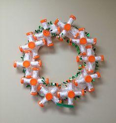 Wreath Made Of Pee Jars | Bored Panda