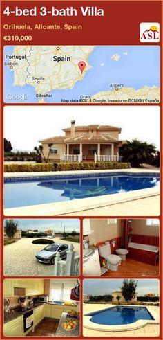 4-bed 3-bath Villa in Orihuela, Alicante, Spain ►€310,000 #PropertyForSaleInSpain