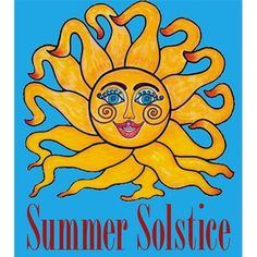 HappY Summer Solstice  celestial sun face