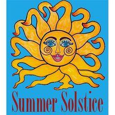 HappY Summer Solstice  celestial sun face