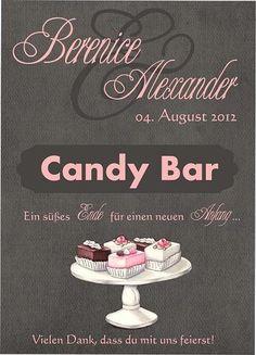 Hochzeitsdeko - Personalisiertes Schild für Eure Candybar (PDF) - ein Designerstück von Be-nice-4-you bei DaWanda