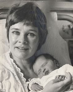 Judi Dench and daughter Finty 1972.