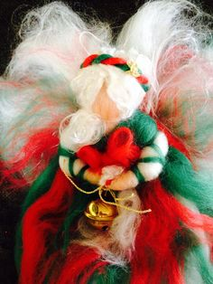 Fairy of Christmas in fairy wool. Waldorf. For by CreazioniMonica