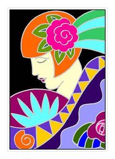 Art Deco-Style illustration by Caroline Astrop-Smith