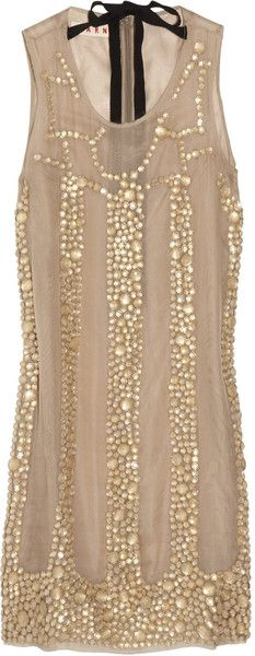 Marni Bead Embellished Silk Voile Dress