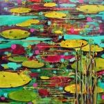 I hope you enjoy my pondscapes. When I was a child growing up on a farm in Saskatchewan I loved watching nature and life down at the pond. Serenity, Nature, Painting, Art, Art Background, Naturaleza, Painting Art, Kunst, Paintings