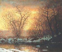 László Mednyánszky - Thawing of Snow (1896-9)