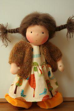 "Organic Waldorf doll Kayla-16"". $200.00, via Etsy."