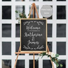 Wedding Welcome Sign Large Wedding Welcome Sign Chalkboard