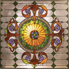 Victorian Design, Tiffany Style Stained Glass Window Panel - #EasyPin